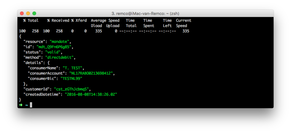 Mollie API test curl underscore