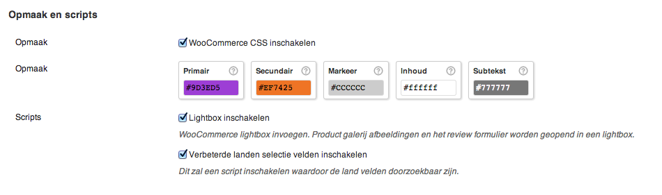 WooCommerce LESS compile opmaak fout